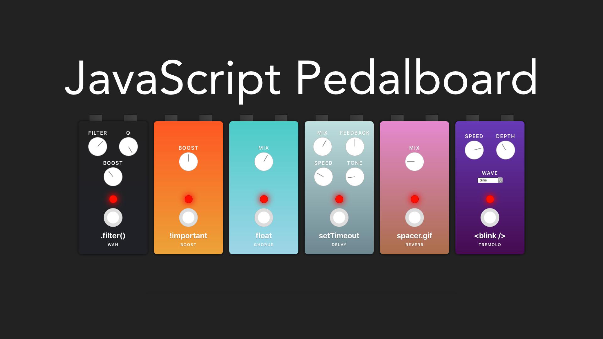 JavaScript pedalboard
